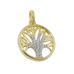 pendant tree of life zirconias 9K GOLD