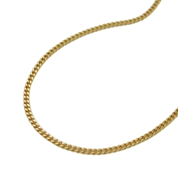 Necklace curb chain 2x diamond cut 9k gold 50cm