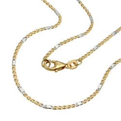 necklace, mariner chain, 50cm, 14K GOLD