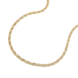 NECKLACE, S-CURB CHAIN, 36CM, 14K GOLD