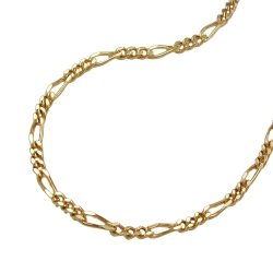 necklace 42cm figaro chain, 14K GOLD