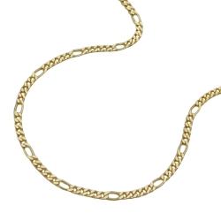 Necklace, Figaro Chain, 45cm, 9K Gold