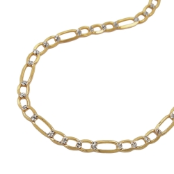 necklace, figaro chain, 50cm, 14K GOLD