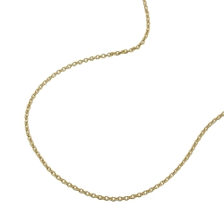 Necklace, Thin Anchor Chain, 38cm, 9K Gold