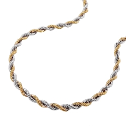 necklace, rope-chain, 42cm, 14K GOLD