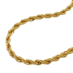 Necklace, Rope Chain, 42cm, 9K Gold