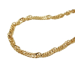 Necklace, Singapore Chain, 42cm, 9K Gold