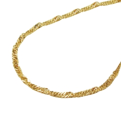 Necklace, Singapore Chain, 42cm, 14K Gold