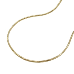 Necklace, Snake Chain, 5-edged, 42cm, 14K Gold