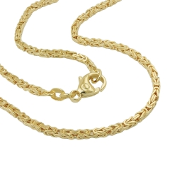 chain, byzantine 2x2mm, 50cm, 14K GOLD