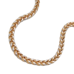bracelet, wheat chain 19cm, 14K GOLD