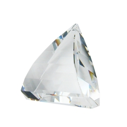 Pendant triangle clear crystal