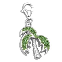 Pendant, Charm, Palm Tree, Silver 925