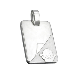 PENDANT, BABY'S CHRISTENING, SILVER 925