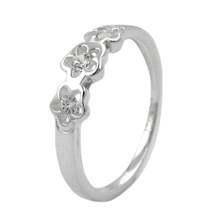 Ring for kids, Zirconia, Silver 925