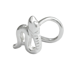 NOSE SCREW, SNAKE, SILVER 925