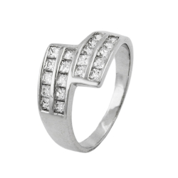 Ring, zirconias, silver 925