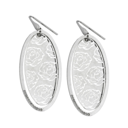 Hook Earrings, Roses, Silver 925