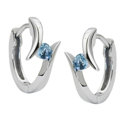 hoop earrings, rhodium plated silver 925