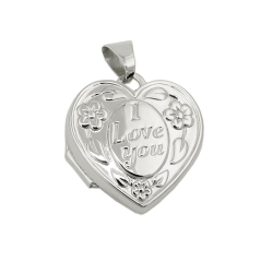 pendant locket - I Love you - silver 925