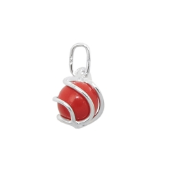pendant reconstructed coral silver 925