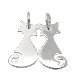 friendship pendant cat/cat silver 925