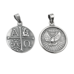 pendant dove christianity silver 925