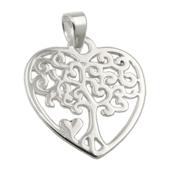 pendant heart with three silver 925