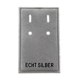 Velvet Card Display, 'ECHT SILBER'