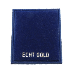 velvet card display 'ECHT GOLD'