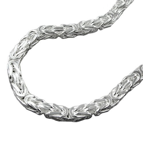 NECKLACE, BYZANTINE CHAIN, SILVER 925, 70CM
