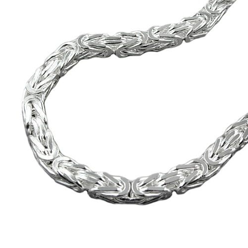 Necklace, Byzantine Chain 6x6mm Silver 925 55cm