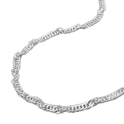 NECKLACE, SINGAPORE CHAIN, SILVER 925, 70CM