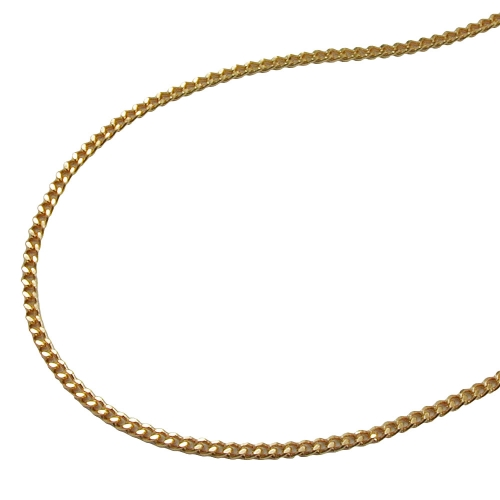 Thin Curb Chain, Diamond Cut, Gold Plated