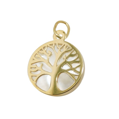 pendant tree of life with pearl 9K GOLD