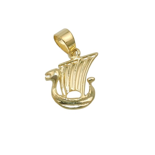 pendant little viking ship 9K GOLD