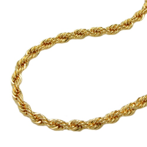 Necklace, Rope Chain, 45cm, 9K Gold