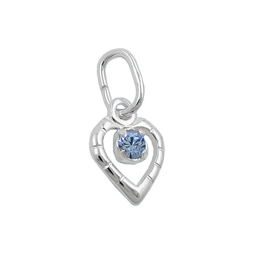 pendant, glass-stone blue, silver 925