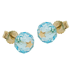 Studs crystal glass GOLD