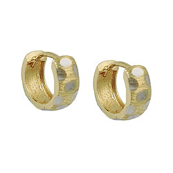 Hoop earrings hinged GOLD