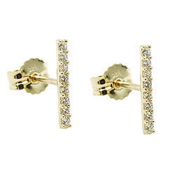 Studs zirconia white GOLD