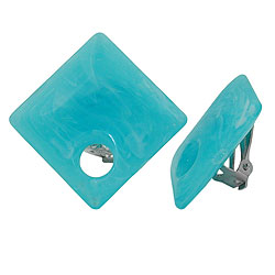Clip-on earrings blue