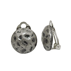 Clip-on earrings silver/grey
