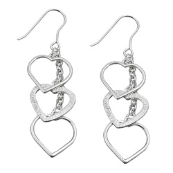 Hook earrings without stones Silver 925