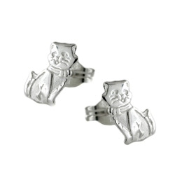 Animal studs without stone Silver 925