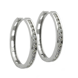 Hoop Earrings, Silver 925