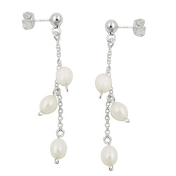Studs with pearls Silver 925