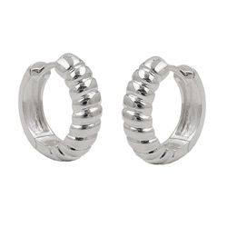 Hoop earrings without stone Silver 925
