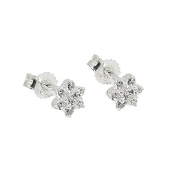 Studs with Zirconia, Silver 925