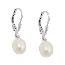 Leverback earrings with pearls Silver 925